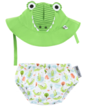 ZOOCCHINI Swim Diaper & Sun Hat Set Alligator