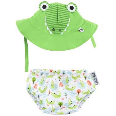 ZOOCCHINI Swim Diaper & Sun Hat Set Alligator