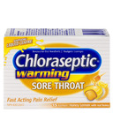Chloraseptic Warming Sore Throat Lozenges Honey Lemon
