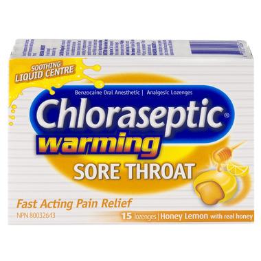 Chloraseptic Warming Sore Throat Lozenges Honey Lemon