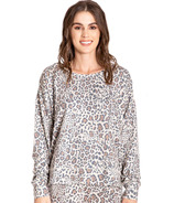 PJ Salvage Wild Heart Leopard Long Sleeve Top Tan