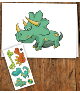 PiCO Temporary Tattoos Dinosaur Card & Tattoos