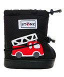 Stonz Black Fire Truck Toddler Booties