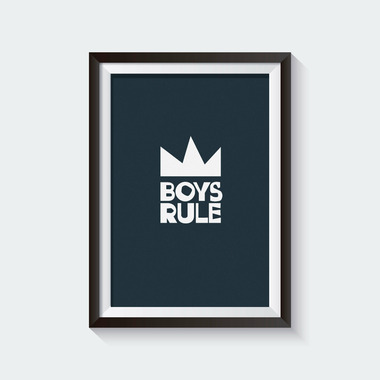 mavisBLUE Boys Rule 5x7