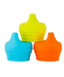 Boon Snug Spout Lids Orange Multi