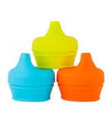 Boon Snug Spout Lids Orange Multi