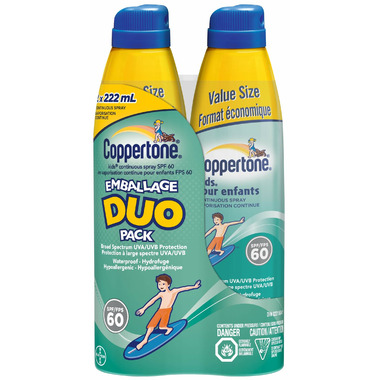 Coppertone Kids Continuous Spray Sunscreen Duo Pack SPF 60