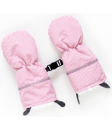 Juddlies Winter Mitts Herringbone Pink