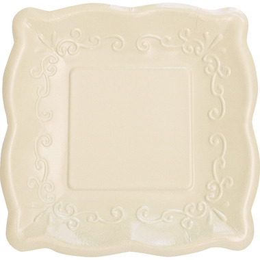 Elise Embossed Square Banquet Plate Linen