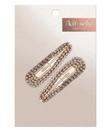 Kitsch Rhinestone Snap Clips Rose Gold