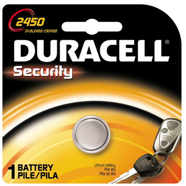Duracell Lithium 2450 Keyless Entry Battery