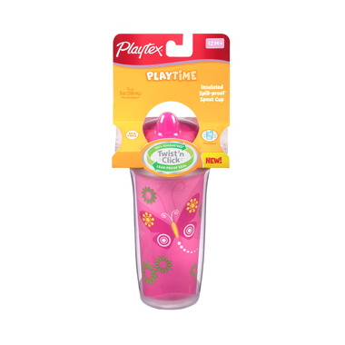 Playtex Playtime Insulated Twist \'n Click Spill-Proof Spout Cup