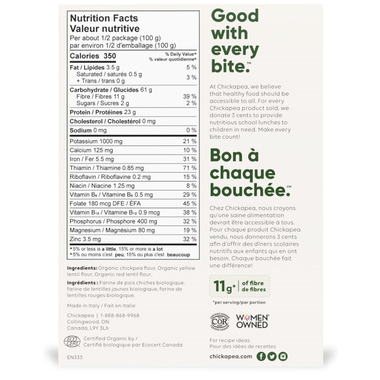 Chickapea Organic Penne Pasta