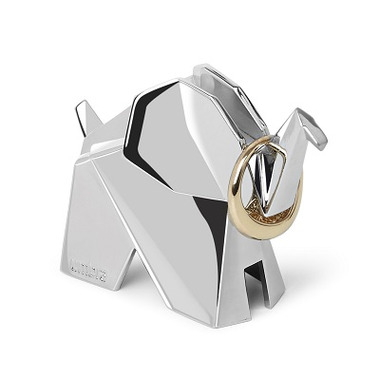 Umbra Origami Elephant Ring Holder Chrome