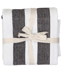 Harman Industrial Stripe Basketweave Tea Towel Black and White