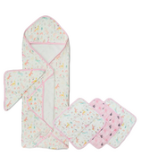 Loulou Lollipop Unicorn Dream Hooded Towel + Washcloth Bundle