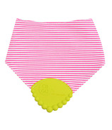 Chewbeads Drool Bib with Teether Chartreuse