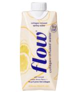 Eau de source alcaline Flow Collagen infusé au citron Meyer