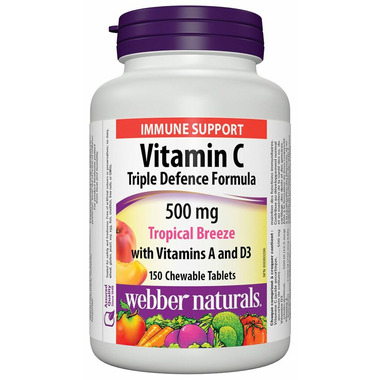 Webber Naturals Vitamin C 500 mg with Vitamin A and D3