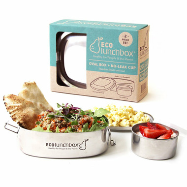 ECOlunchbox Oval Stainless Steel Containers