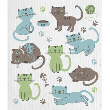 Wet-It Swedish Cloth Cats At Play