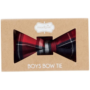 Mue Pie Red Plaid Bow Tie