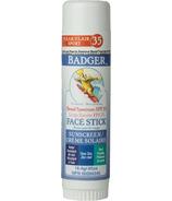 Badger Bâton pour le Visage Zinc Clair FPS 35
