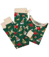 Hatley ensemble de pyjamas pour femmes en jersey Woofing Christmas
