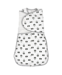 Nest Designs Organic Cotton Swaddle Sleep Bag 2.5 TOG Panda Party Small