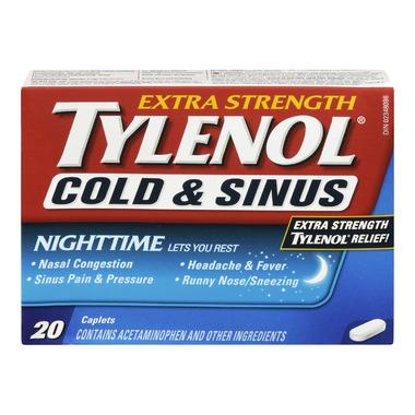 Tylenol Cold & Sinus Extra Strength Nighttime Caplets