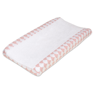 Lolli Living Change Pad Cover Kayden Pink Scallop