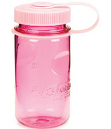 Nalgene 12 Ounce Mini Grip Bottle with Loop Top Pink with Pink
