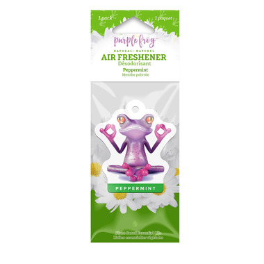 Purple Frog Peppermint Hanging Air Freshener