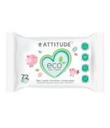 ATTITUDE Eco-Baby 100% Biodegradable Wipes