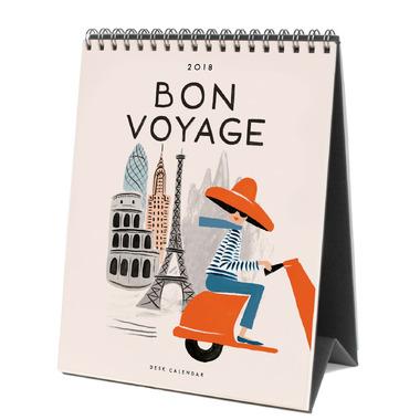 Rifle Paper Co. 2018 Bon Voyage Desk Calendar