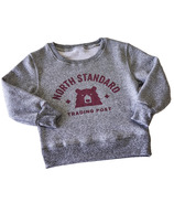 North Standard Trading Post Kids Crew Sweat Speckled Grey & Maroon