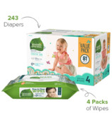 Seventh Generation Diaper & Wipes Bundle Size 4