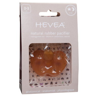 Hevea Anatomical Natural Rubber Star & Moon Pacifier