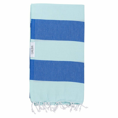 Lualoha Turkish Towel Buddhaful Light Mint & Blue