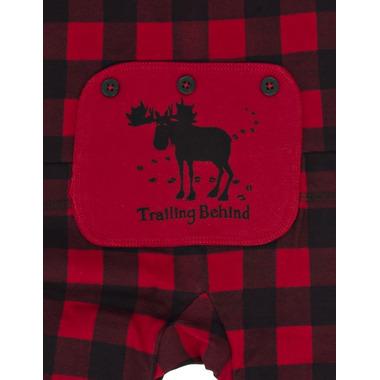 Hatley Kids Union Suit Red Buffalo Plaid