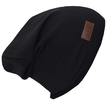 L&P Apparel Cotton Slouchy Beanie Black