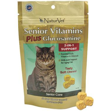 Naturvet Senior Vitamins Plus Glucosamine Soft Chews