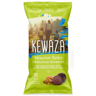 Kewaza Healthy Bites Dark Chocolate Peanut Butter
