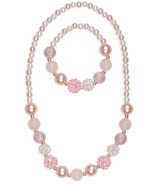 Great Pretenders Pinky Pearl Necklace & Bracelet Set