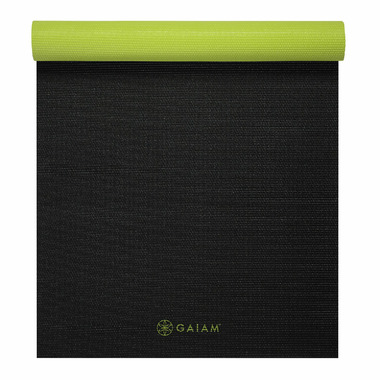 Gaiam Classic Reversible Yoga Mat Black & Citron