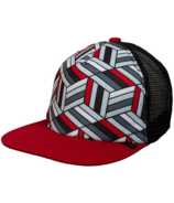 Calikids Trucker Hat Mesh Back Black & Red
