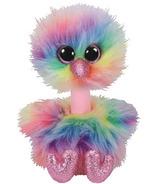 Ty Beanie Boo's Asha the Rainbow Ostrich Medium