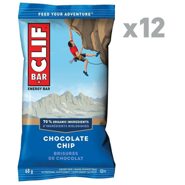 Clif Bar Chocolate Chip Energy Bar Case