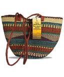 Alaffia Handwoven African Grass Shoulder Bag