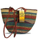 Alaffia Handwoven African Grass Shoulder Bag